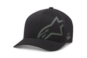 Alpinestars Corp Shift Wp Tech Flexfit Baseball Cap Hat Black Charcoal
